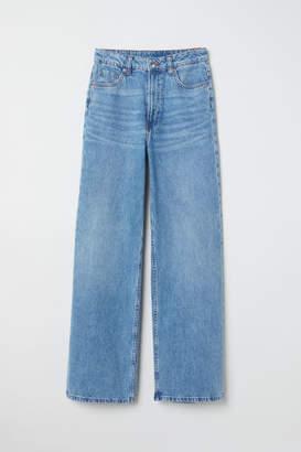 H&M Wide Regular Jeans - Blue