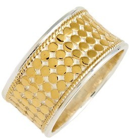 Women's Anna Beck Vermeil Cigar Band Ring $200 thestylecure.com
