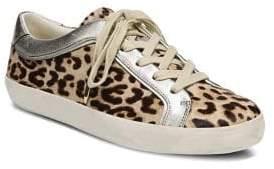 Sam Edelman Britton 2 Leopard Print Calf Hair Sneakers