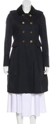 Marc by Marc Jacobs Velvet-Trimmed Double-Breasted Coat