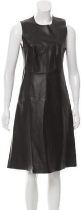 Calvin Klein Collection Leather A-Line Midi Dress w/ Tags