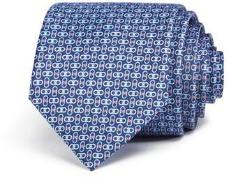 Salvatore Ferragamo Enne Mini Linked-Gancini Silk Classic Tie