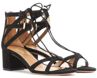 Aquazzura Beverly Hills 50 suede sandals
