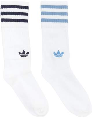 adidas 2 Pairs Of Striped Crew Socks