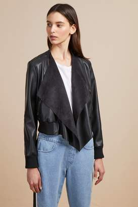 French Connenction Abellana PU Bomber Jacket