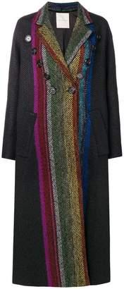 Marco De Vincenzo long striped coat