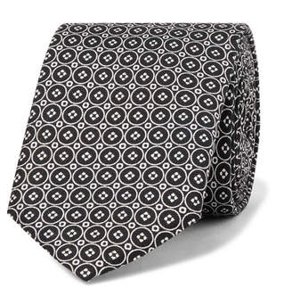 Dolce & Gabbana 6cm Printed Silk-Twill Tie - Men - Black