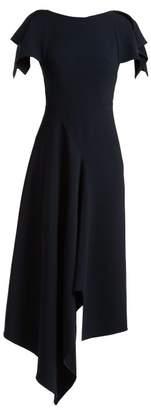 Roland Mouret Warren Draped Crepe Dress - Womens - Navy