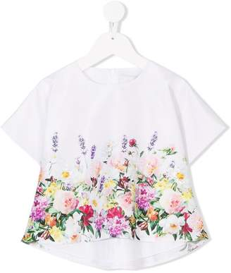 Love Made Love floral print embellished top