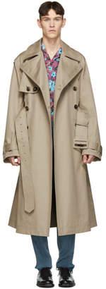 Valentino Beige Oversized Trench Coat