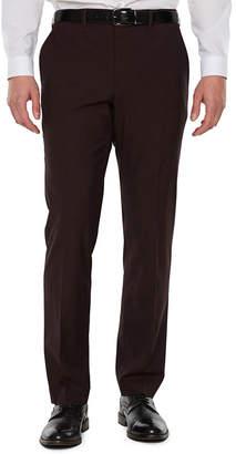 Jf J.Ferrar Merlot Stretch Pulse Suit Pant Slim Fit Stretch Suit Pants