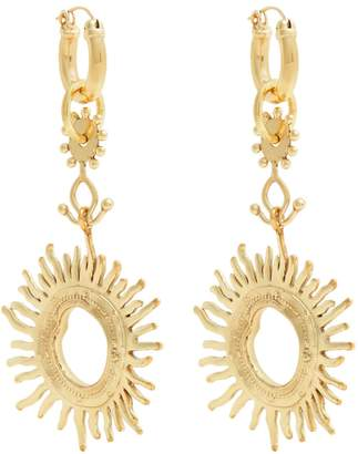 Ellery Strangerland sun gold-tone earrings