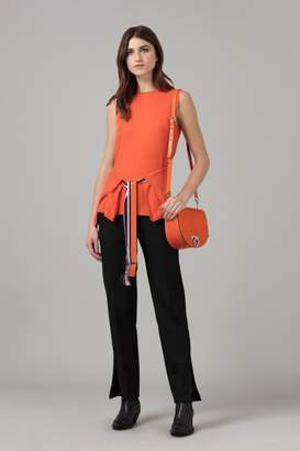Amanda Wakeley Sleeveless Cashmere Wrap Top in Clementine