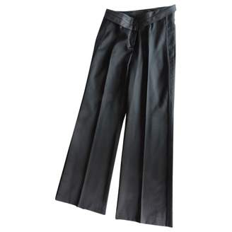 Martine Sitbon Black Cotton Trousers for Women