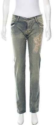 Ermanno Scervino Embroidered Mid-Rise Jeans