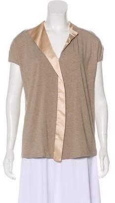 Fabiana Filippi Embellished Short Sleeve Top