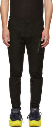 Julius Black Stretch Back Cargo Pants