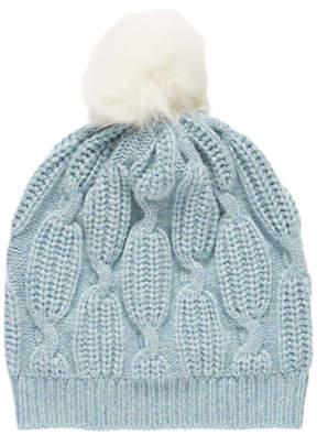 Brora Cashmere And Sheepskin Beanie Hat
