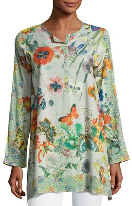 Johnny Was Passion Flower Cotton Tunic, Multi $159 thestylecure.com