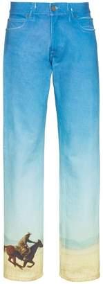 Calvin Klein Jeans Est. 1978 printed straight leg jeans