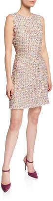 Neiman Marcus Isabelle Tweed Sheath Dress