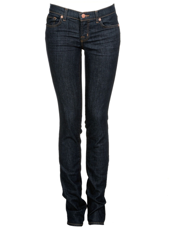 J BRAND 912 Low-Rise Skinny Jeans In Pure