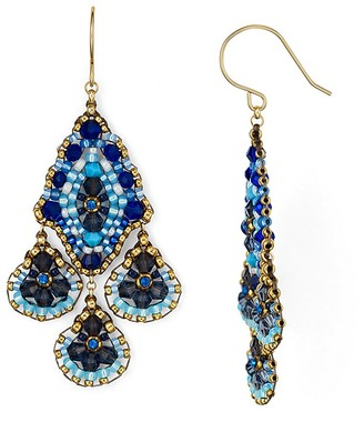 Miguel Ases Chandelier Drop Earrings $190 thestylecure.com
