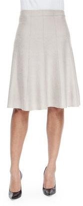 NIC+ZOE Paneled Twirl Skirt, Silver Cloud $138 thestylecure.com