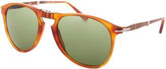 Persol 9714-S Tortoiseshell-Look Foldable Aviator Sunglasses