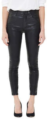 Citizens of Humanity Rocket High-Rise Coated Skinny Jeans