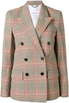 Calvin Klein heritage check blazer jacket