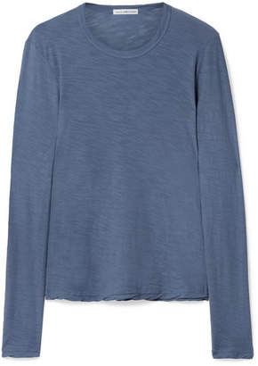 James Perse Slub Supima Cotton-jersey Top - Blue