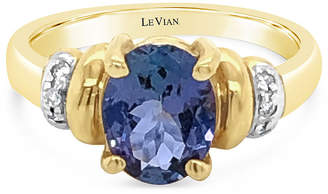LeVian CORP LIMITED QUANTITIES! Le Vian Grand Sample Sale Ring featuring Blueberry Tanzanite Vanilla Diamonds set in 14K Honey Gold