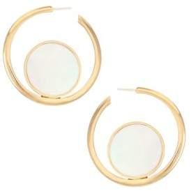 Astley Clarke 18K Goldplated& Mother-of-Pearl Slice Hoop Earrings