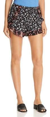 Aqua Ruffle-Trim Floral-Print Shorts - 100% Exclusive