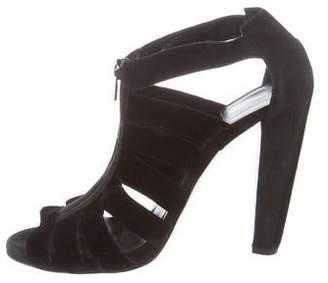 Pierre Hardy Velvet Peep-Toe Sandals