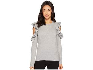 CeCe Ruffled Exposed Shoulder Sweater Women's Sweater