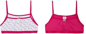 Dim Girl's 6J63050 Bra, Pink/White (Raspberry), (Manufacturer Size: ) (Pack of 2)