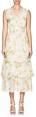 Brock Collection Women's Lace-Trimmed Floral Cotton Dress