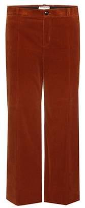Balenciaga Cropped corduroy trousers
