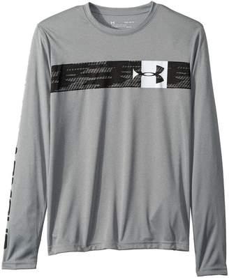 Under Armour Kids UA Pixel Crossbar Long Sleeve Tee Boy's T Shirt