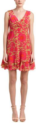 Nanette Lepore Floral Silk A-Line Dress