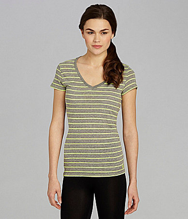 Under Armour Undeniable Striped Workout Tee