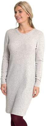Wool Overs WoolOvers Womens Cashmere and Merino Rib Detail Knitted Dress , S