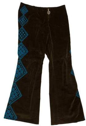 Tory Burch Low-Rise Flared Pants
