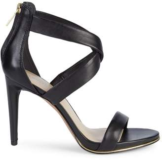Kenneth Cole Brooke Criss-Cross Leather d'Orsay High-Heel Sandals