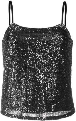Liu Jo sequin embroidered vest top