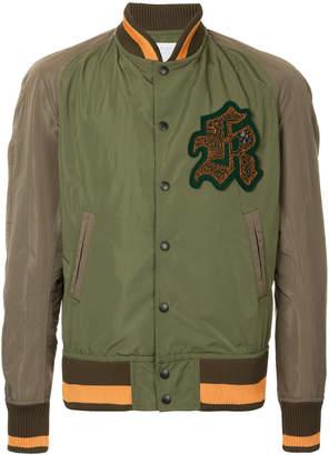 Kolor logo patch bomber jacket