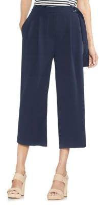 Vince Camuto Sapphire Bloom Zippered Self-Tie Pants