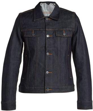 A.P.C. Brandy Raw Denim Jacket - Womens - Indigo